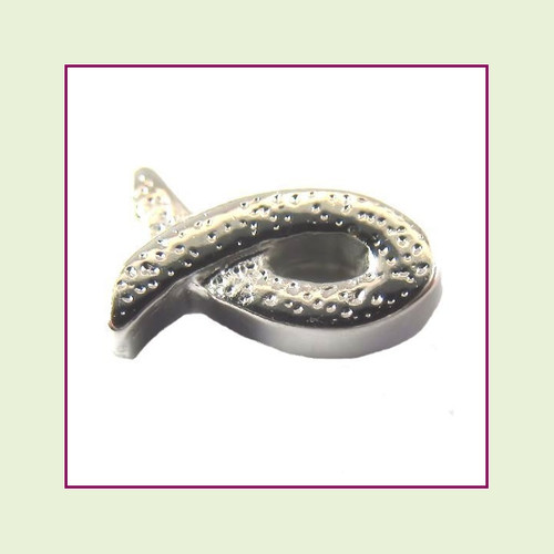 Christian Fish Silver Floating Charm