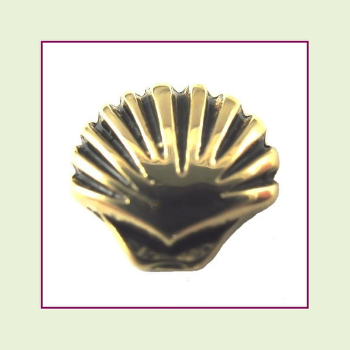 Seashell Clam Gold Floating Charm