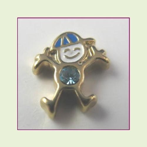 CG-03 March Gold Boy Birthstone Floating Charm