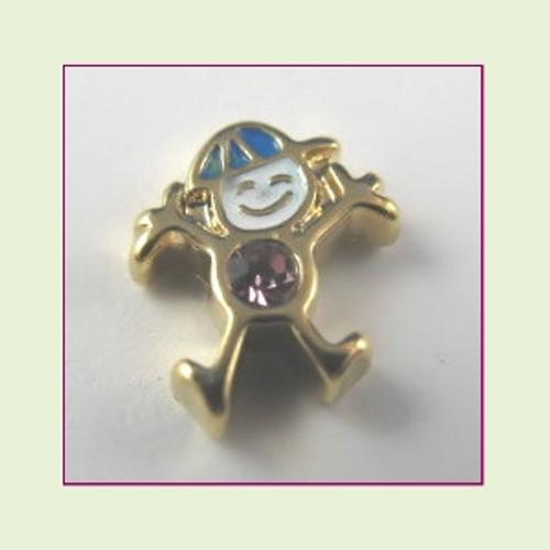 CG-06 June Gold Boy Birthstone Floating Charm