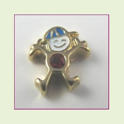 CG-07 July Gold Boy Birthstone Floating Charm