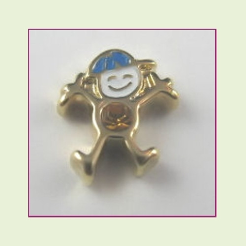 CG-11 November Gold Boy Birthstone Floating Charm