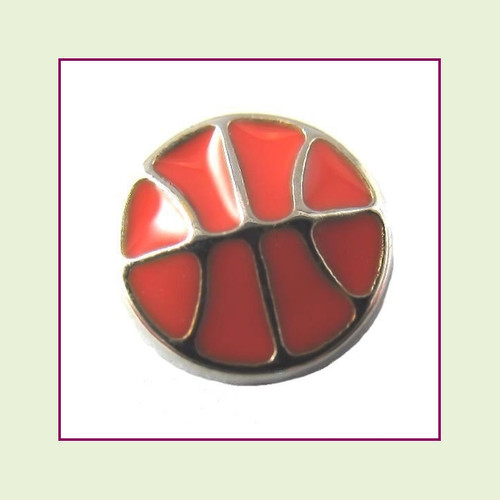 Basketball (Silver Base)  Floating Charm