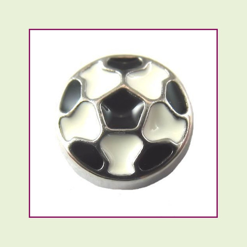 Soccer Ball (Silver Base) Floating Charm