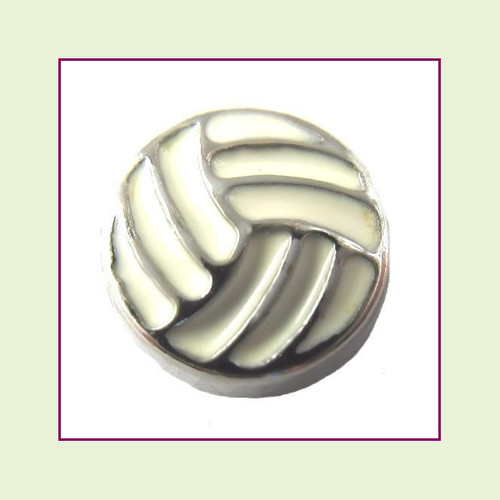 Volleyball (Silver Base) Floating Charm