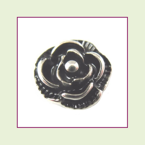 Vintage Silver Rose Floating Charm
