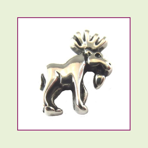 Moose Silver Floating Charm
