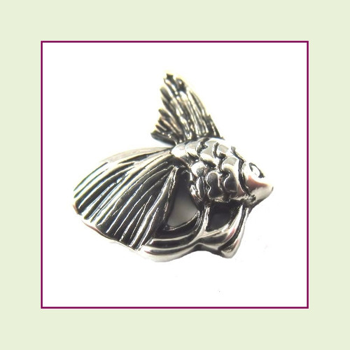 Angel Fish Silver Floating Charm