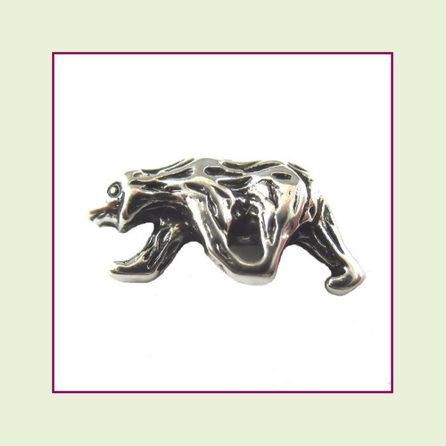 Bear Silver Floating Charm