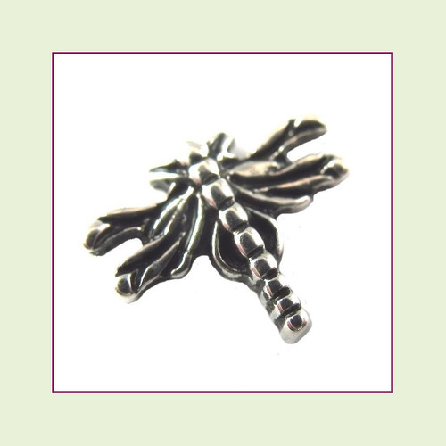 Dragonfly Silver Floating Charm