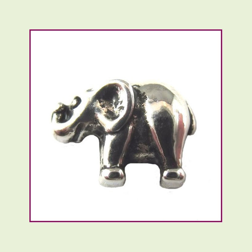Elephant Silver Floating Charm