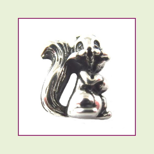 Squirrel Silver Floating Charm
