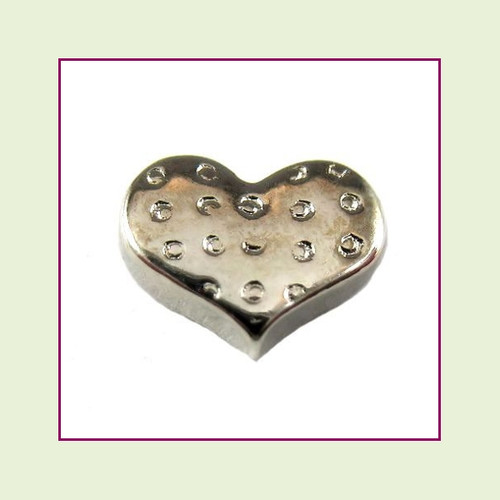 Polka Dot Heart Floating Charm