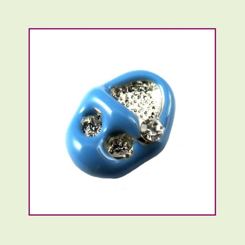 Baby Shoe Blue Floating Charm