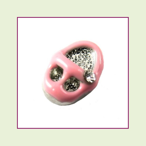 Baby Shoe Pink Floating Charm