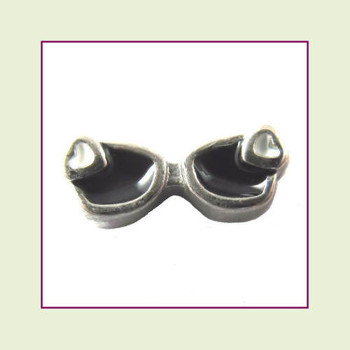Sunglasses Black (Silver Base) Floating Charm