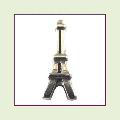 Eiffel Tower Silver Floating Charm