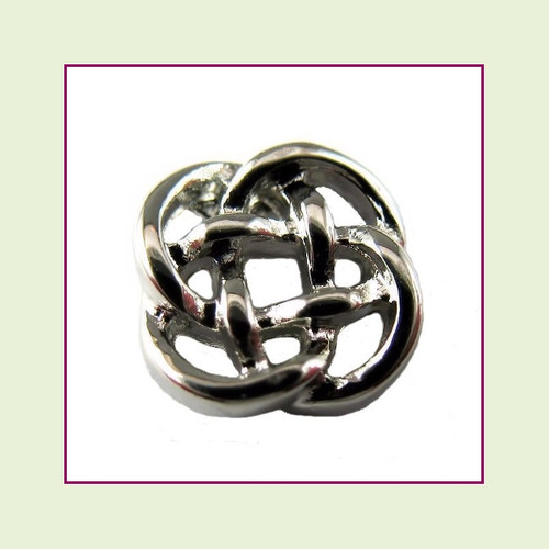 Celtic Knot Silver Floating Charm
