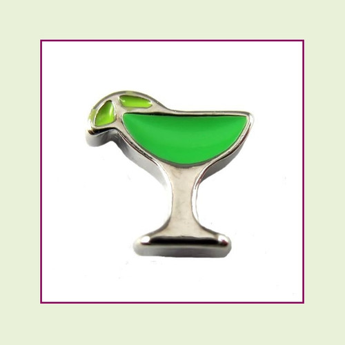 Margarita Glass (Silver Base) Floating Charm