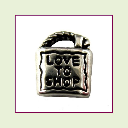 Love to Shop Silver Floating Charm