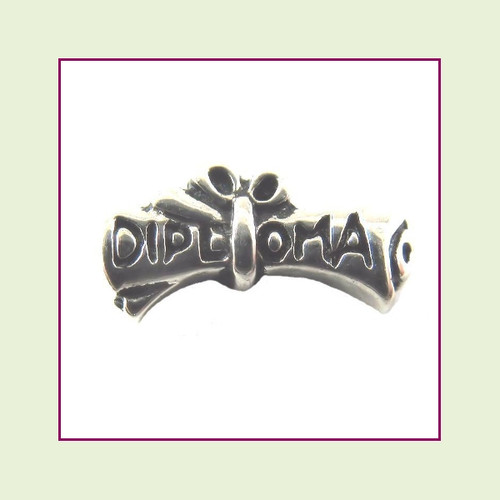 Diploma Silver Floating Charm