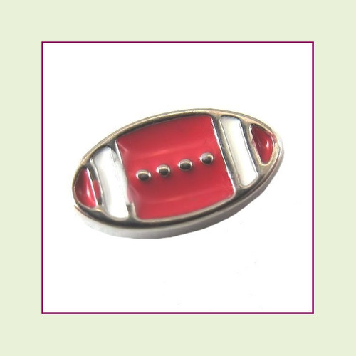 Football Flat (Silver Base) Floating Charm