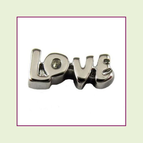 Love Letters Silver Floating Charm