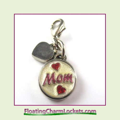Mini Clip-On Charm:  Mom 10x10mm