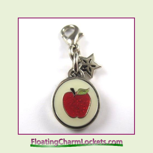 Mini Clip-On Charm:  Apple 10x10mm