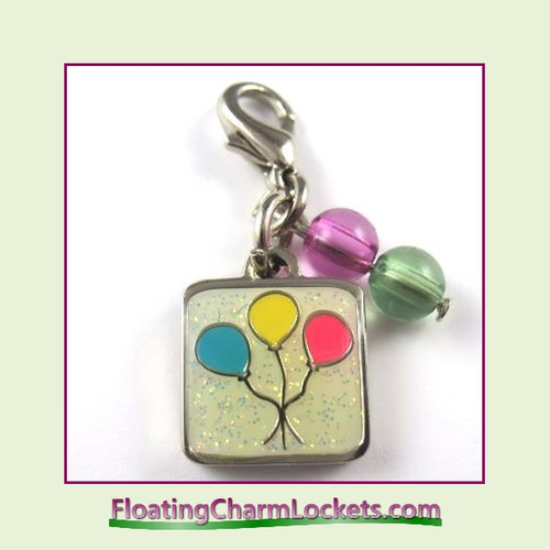 Mini Clip-On Charm:  Balloons 11x11mm