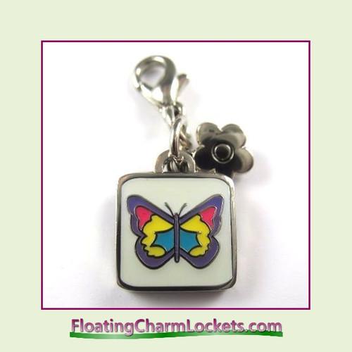 Mini Clip-On Charm:  Butterfly 11x11mm