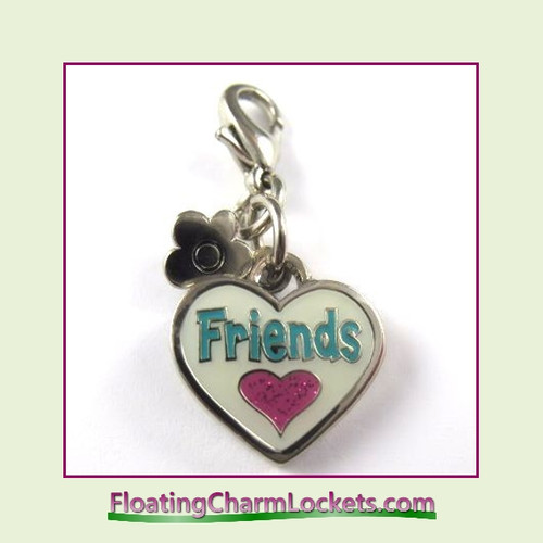 Mini Clip-On Charm:  Friends 14x12mm