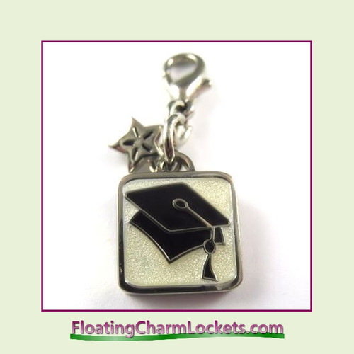 Mini Clip-On Charm:  Graduation Cap 11x11mm