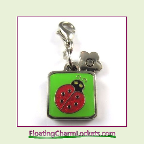Mini Clip-On Charm:  Ladybug 11x11mm
