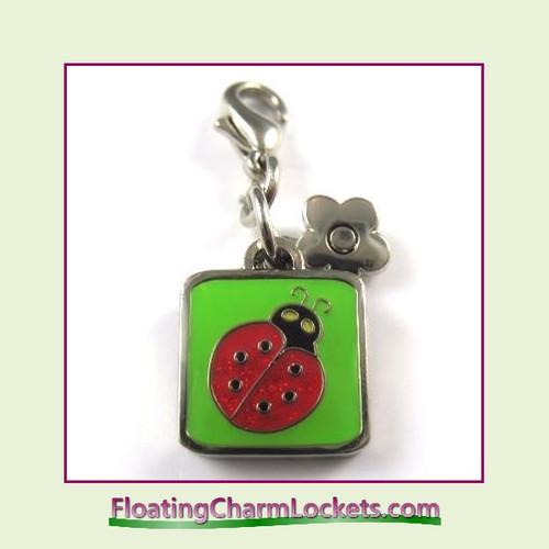 Mini Clip-On Charm:  Ladybug 11x11mm