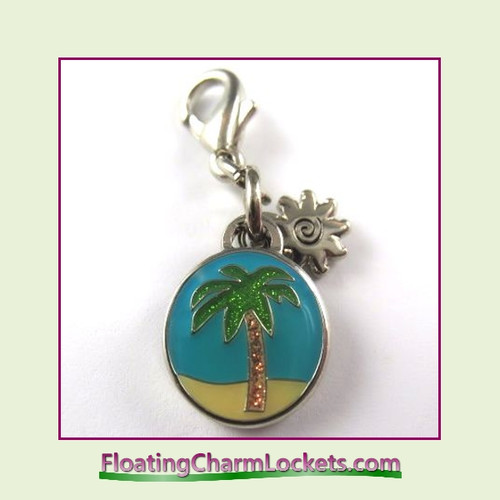 Mini Clip-On Charm:  Palm Tree 10x10mm