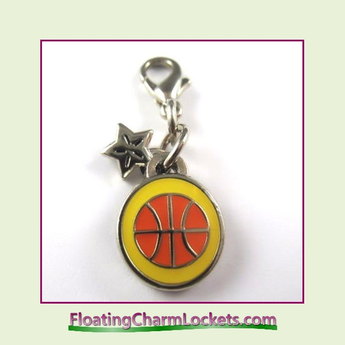 Mini Clip-On Charm:  Basketball 10x10mm