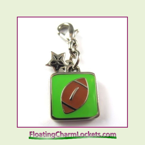 Mini Clip-On Charm:  Football 11x11mm