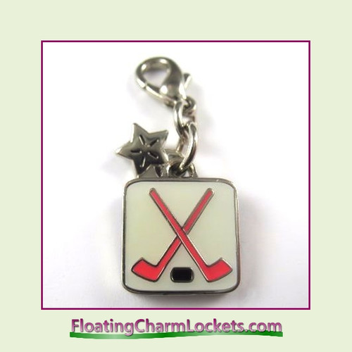 Mini Clip-On Charm:  Hockey 11x11mm