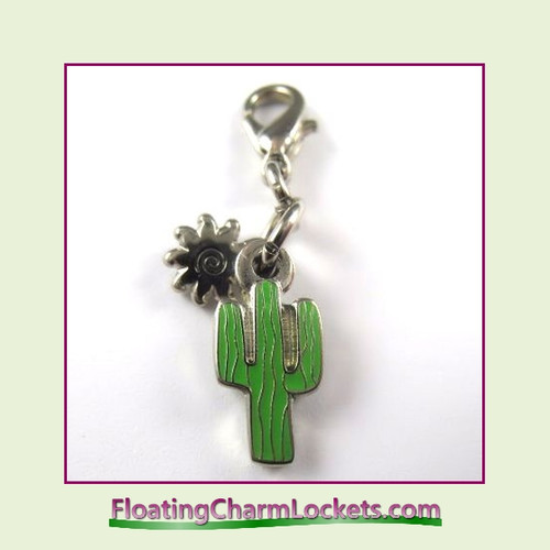 Mini Clip-On Charm:  Cactus 11x11mm
