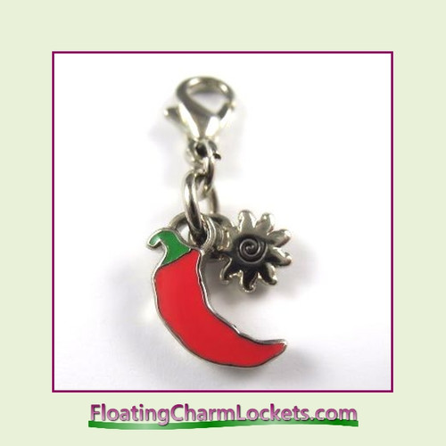 Mini Clip-On Charm:  Chili Pepper 11x11mm
