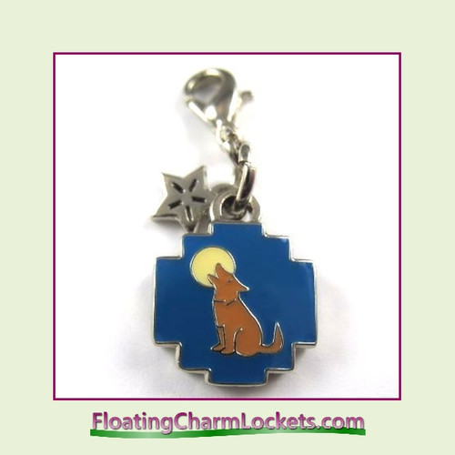 Mini Clip-On Charm:  Coyote 11x11mm