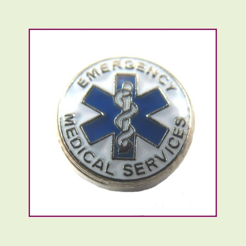 Emergency Medical Services (Silver Base) Floating Charm
