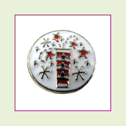 Firecracker (Silver Base) Floating Charm