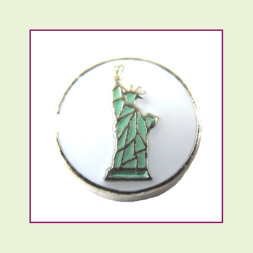 Statue of Liberty (Silver Base) Floating Charm