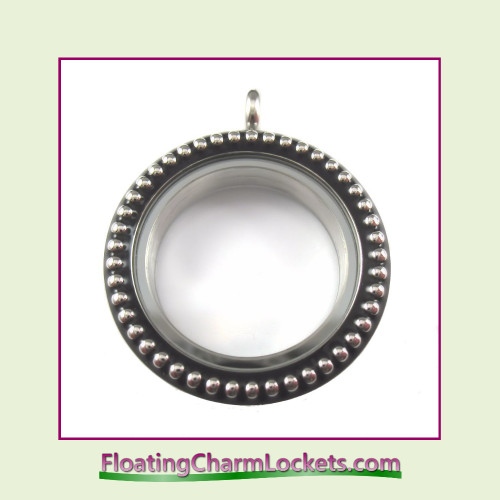 Silver Vintage 30mm Round Stainless Steel Floating Charm Locket
