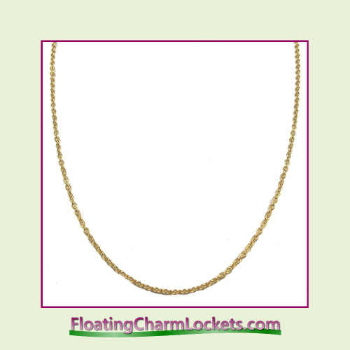 "SS652 - 24"" Gold Stainless Steel Chain (2.4mm)"