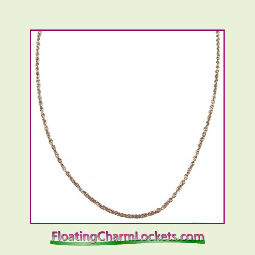 "SS753 - 28"" Rose Stainless Steel Chain (2.4mm)"