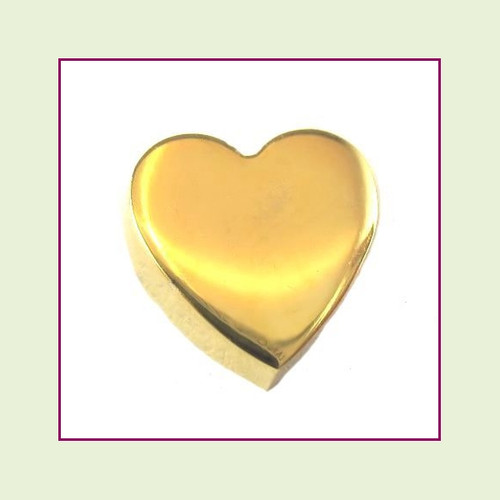 Heart (Gold) Stainless Steel Floating Charm