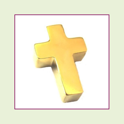 Cross (Gold) Stainless Steel Floating Charm